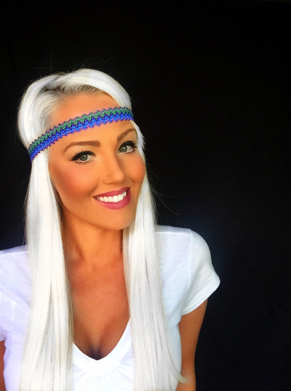 Chic Blue Hair Hippie Chic Purple Blue
