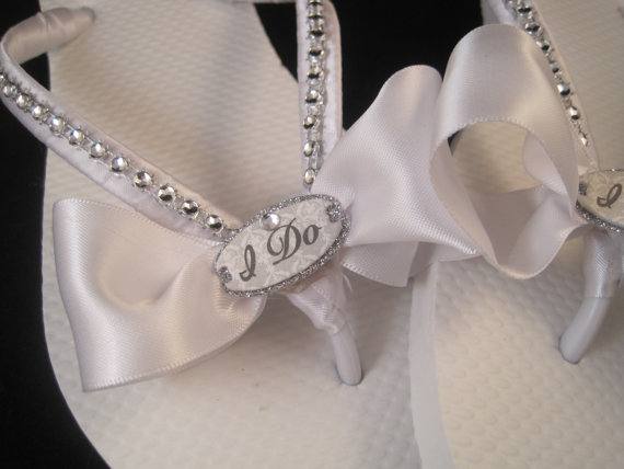 b6f9d49af So Sweet Bride I Do White Bridal Wedding Flip Flops  2298552 - Weddbook