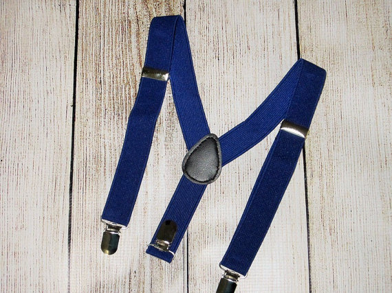 Mariage - Boys Suspenders-Blue Suspenders- baby boys suspenders-toddler-photo prop- Kids Suspenders, boy wedding ring bearer, birthday suspenders