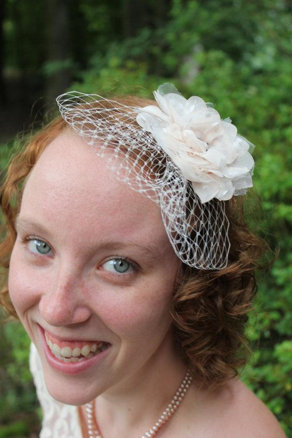 "Wedding - WEDDING VEIL- bridal poof  9"" Russian veiling"