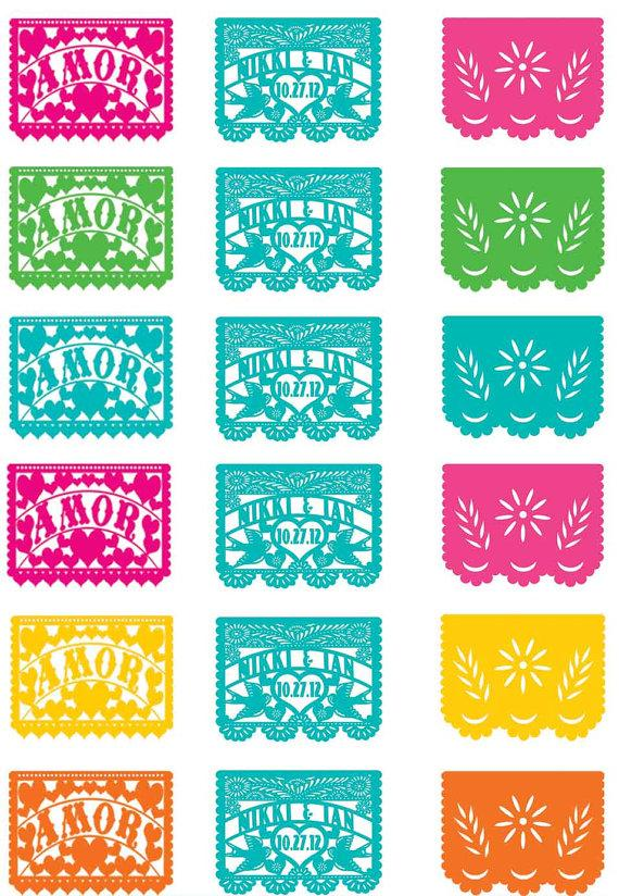 photo relating to Papel Picado Template Printable known as Cupcake Toppers Delight in Birds Papel Picado Banner Fiesta