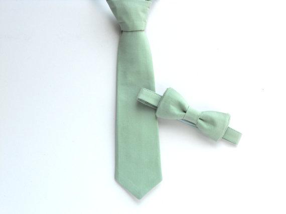 Wedding - Ring bearer tie, wedding bow tie, grooms bow tie, mens bow tie, dusty shale bow tie, sage tie, sage wedding, dusty shale wedding
