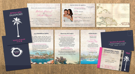 Destination Passport Wedding Invitations Traditional Blue Cover – Destination Wedding Invitations Passport