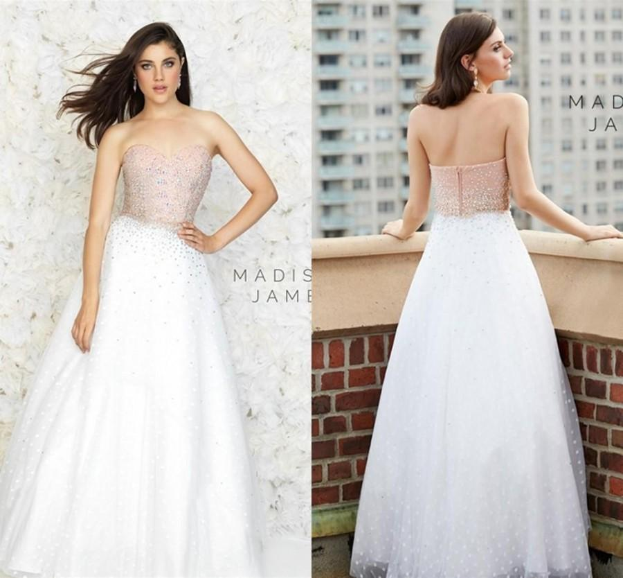 Wedding - 2015 Evening Dresses Long Prom Sweetheart Dress Beads Stones Tulle Cheap A Line Vestidos Party Pageant Gowns Graduation Dress Girls Online with $114.82/Piece on Hjklp88's Store