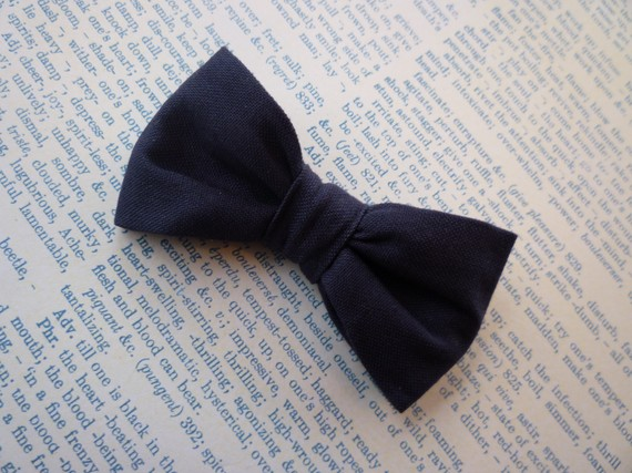 solid navy blue bow tie for and boys clip on pre