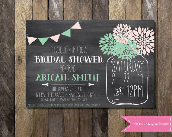 Printable bridal shower chalkboard invitation mason jar invitation printable bridal shower chalkboard invitation mason jar invitation digital printable file 5x7 or 4x6 wedding couple bachelorette hen filmwisefo
