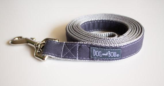 زفاف - Dark Gray Dog Leash by Dog and Bow July 4th