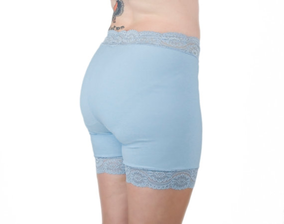 Mariage - Pastel Blue Lace Underwear Shorts