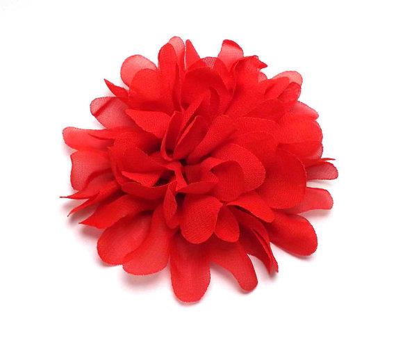 Свадьба - Chiffon Mums Dog Collar Flower
