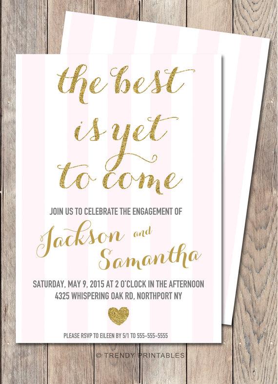 Hochzeit - INSTANT DOWNLOAD Invitation Back, Stripe Back Side, Pink Stripe Back Side, Engagement Party Invitation, Bridal Shower Invitation