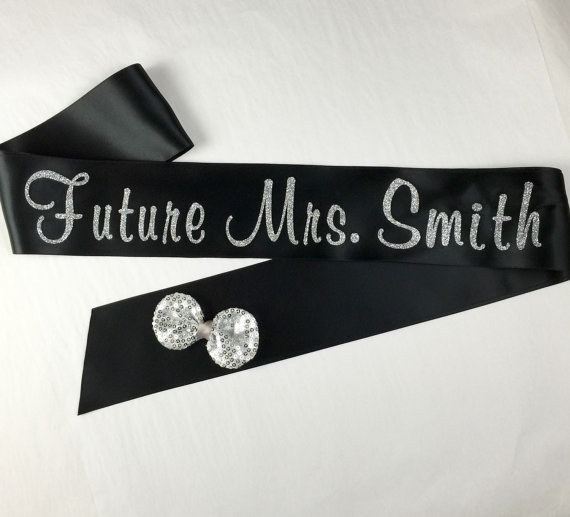 Mariage - Glitter Sash, MANY Colors, Bachelorette Sash, Custom Bridal Sash, MANY Colors, Future Mrs Sash, Bachelorette Sash, Bride to Be Sash