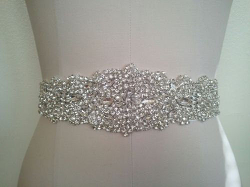 Mariage - Wedding Sash Belt, Bridal Sash Belt - Crystal Sash Belt
