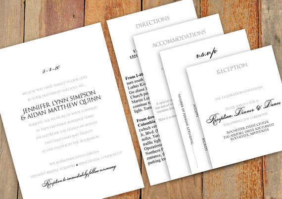 Pocket Wedding Invitation Template Set