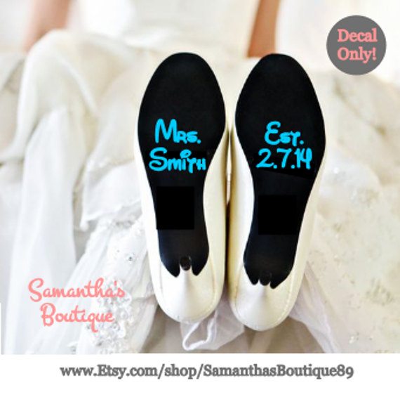 Mariage - DIY Custom Disney Wedding Shoe Decals