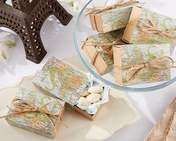 Свадьба - Around The World Map Favor Box (Set Of 24)