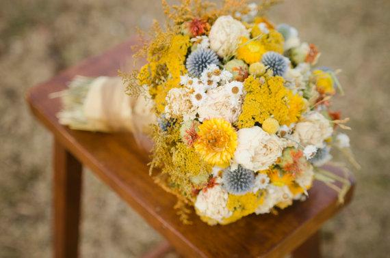 زفاف - Golden peonies bridal bouquet, peony bridal bouquet, gold and blue bouquet, fall bridal bouquet, fall wedding, fall bouquet, autumn wedding
