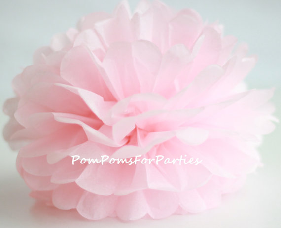 1 High Quality Pale Pink Tissue Pom Pom Choose Any Of 50 Colours