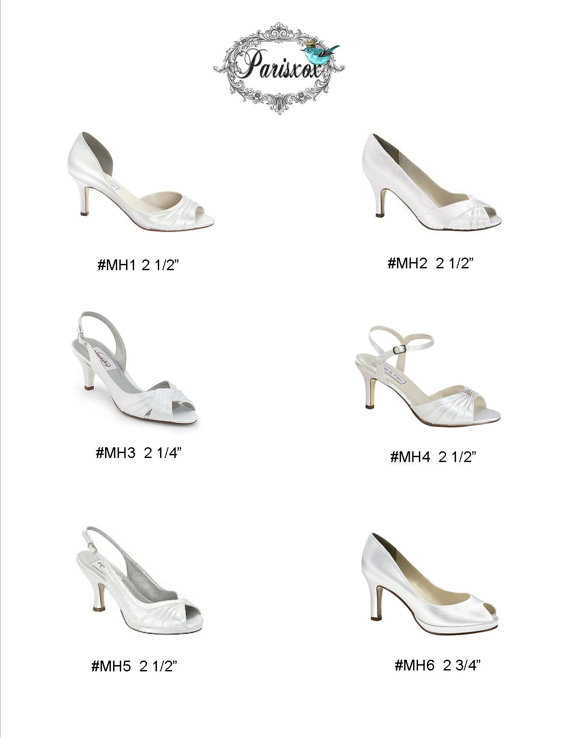 Wedding Shoes Custom Low Heels Your Choice  Custom Wedding Shoes~ Now available at Parisxox  Choose Your Shoes Choose Your Size Choose Your Color Here