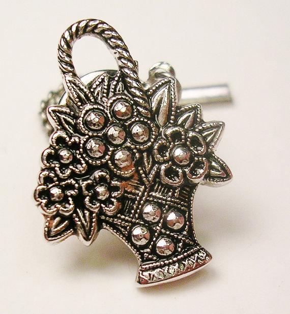 Hochzeit - Vintage Silver Tone  TIE TACK, Necktie Pin, AVON, Men's Jewelry Formal Wear Groom Gentleman Wedding Jewelry Best Man Father Gift