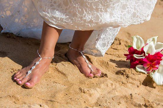 Mariage - Barefoot Sandals - Pearls & Crystals, Destination Wedding, Beach Wedding sandals, Beach Bridal Shoes, Beach Wedding Shoes, Beach Sandals