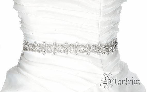 Свадьба - CORA Wedding Belt, Bridal Belt, Sash Belt, Crystal Rhinestones