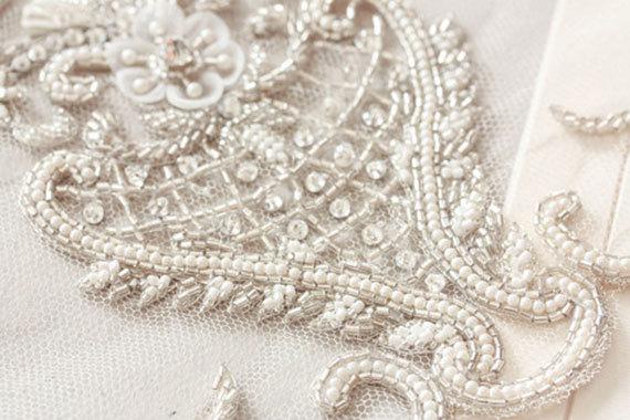 Mariage - Heirloom Wedding Veil  - Viola Silk Veil in Ivory