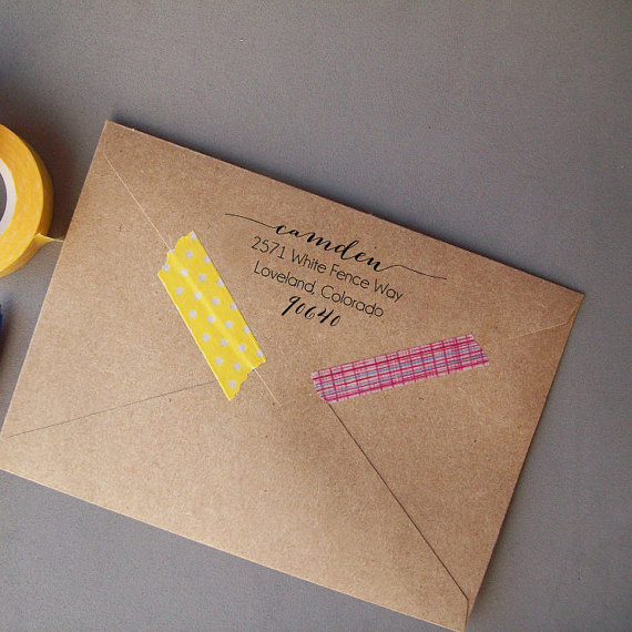Return Address Stamp Calligraphy Diy Weddings