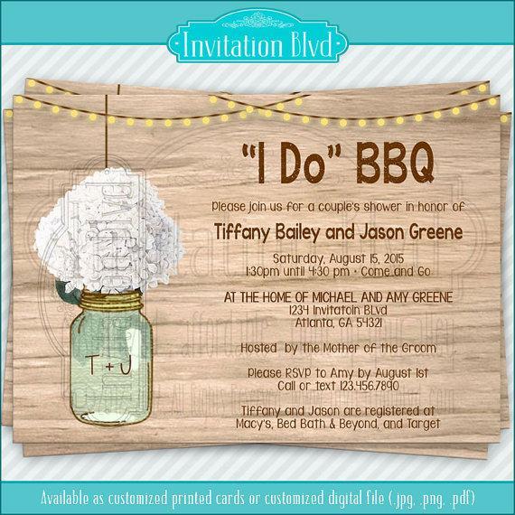 زفاف - I Do BBQ Invitation, Couples Shower I Do BBQ Barbecue Invitation, Engagement Party I Do BBQ Barbecue, Rustic Rehearsal Dinner Invitation,