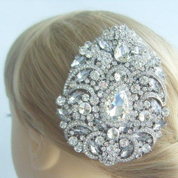 Свадьба - Wedding Hair Accessories Rhinestone Crystal Bridal Hair Comb Wedding Headpiece Wedding Hair Comb Bridal Hair Jewelry Wedding Deco HSE04045C1