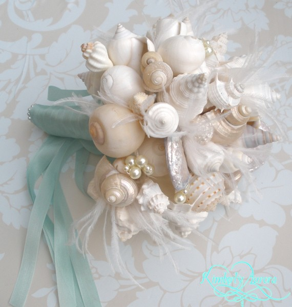 Mariage - Made to Order Custom Details Bridal Bouquet of Shells (Hinewai Clean Style). FULL PAYMENT