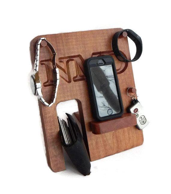 Wedding - Personalized Phone Docking Station - Groomsmen Gift; Men's Birthday, Anniversary Gift
