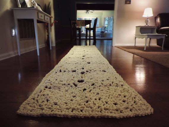 10 Ft Rectangle Doily Runner Rug Lace Carpet Long Hallway Floor Mat Crochet Shabby Boho Chic Wedding Aisle