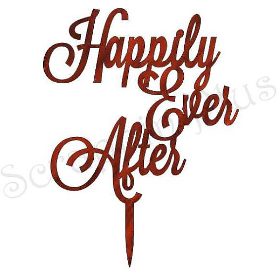 Mariage - Acrylic Happily Ever After Cake Topper - wedding cake topper
