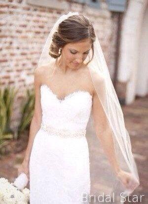 Свадьба - Ivory Wedding veil ivory fingertip veil