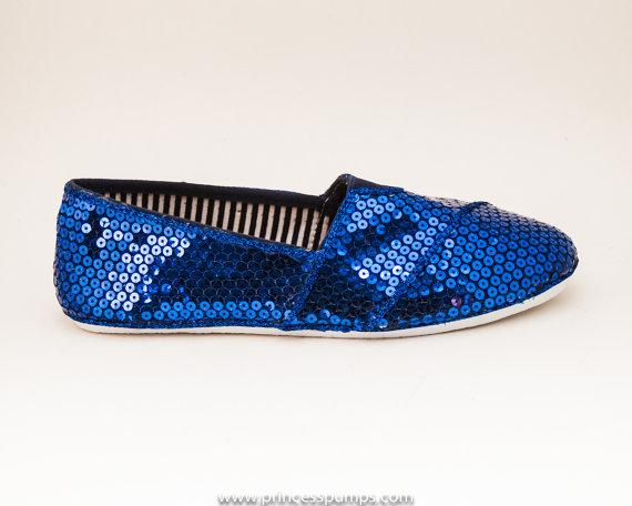 Mariage - Sequin Royal Blue Alpargata Canvas Classics Casual Shoes