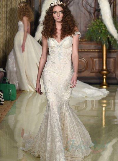Wedding - JW16038 2016 sexy backless all lace mermaid wedding dress