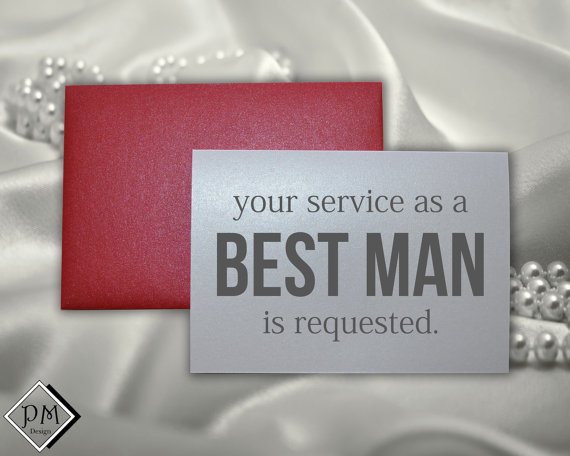 Свадьба - Best man wedding card will you be my my best man ring bearer usher groomsman funny cards for guys your service as a best man is requested
