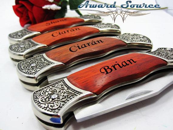 Groomsmen Gift Knife Best Man Wedding Custom Engraved Pocket Christmas Birthday Fathers Day Or Boyfriend