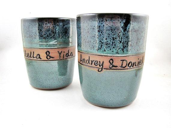 Свадьба - Personalized wedding gift, wedding vase, custom vase, Anniversary, Commitment Ceremony
