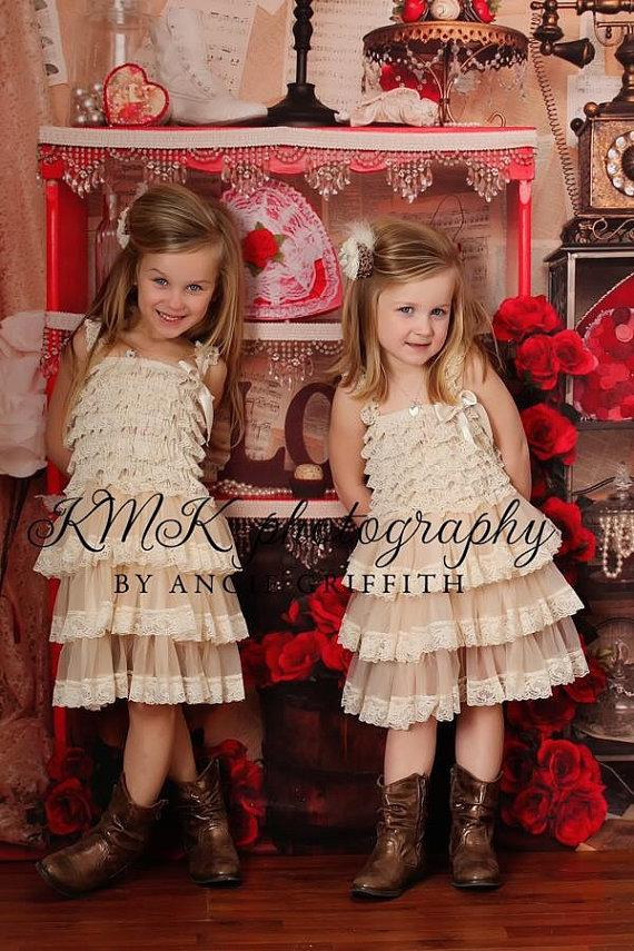 Mariage - Ivory lace dress flower girl dress