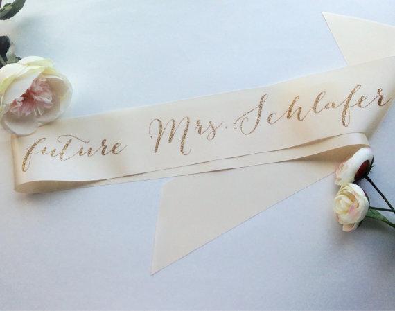 Mariage - Bachelorette Future Mrs Bridal Sash