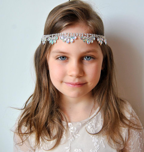 Flower Girl Rhinestone Headband 866f27c238a