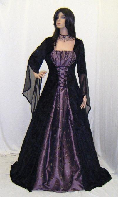 Medieval Renaissance Elven Dress Gothic Wedding Dress Vampire