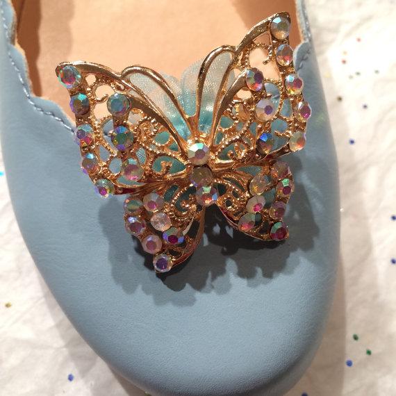 a81d2204c Cinderella 2015 Gold or Silver Metallic Rhinestone Shoe Clips Costume  Cosplay Glass Slipper Disney Disneyland Inspired