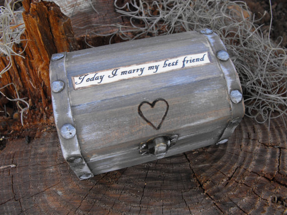 زفاف - Choose A personal Quote For Your Ring Bearer Box / Anniversay Box Rustic Woodland Farmhouse