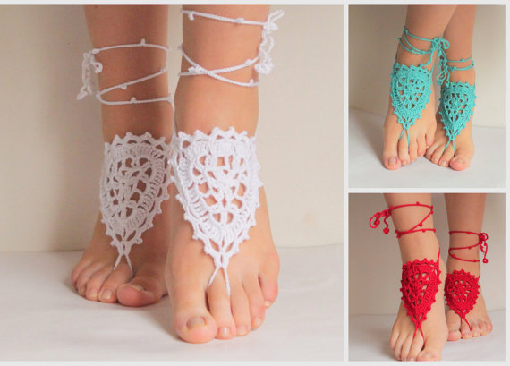 Wedding - 6 bridesmaid shoes 50 dolars, Bridal and bridesmaid shoes, wedding bridal accessories, barefoot sandles, wedding shoes.