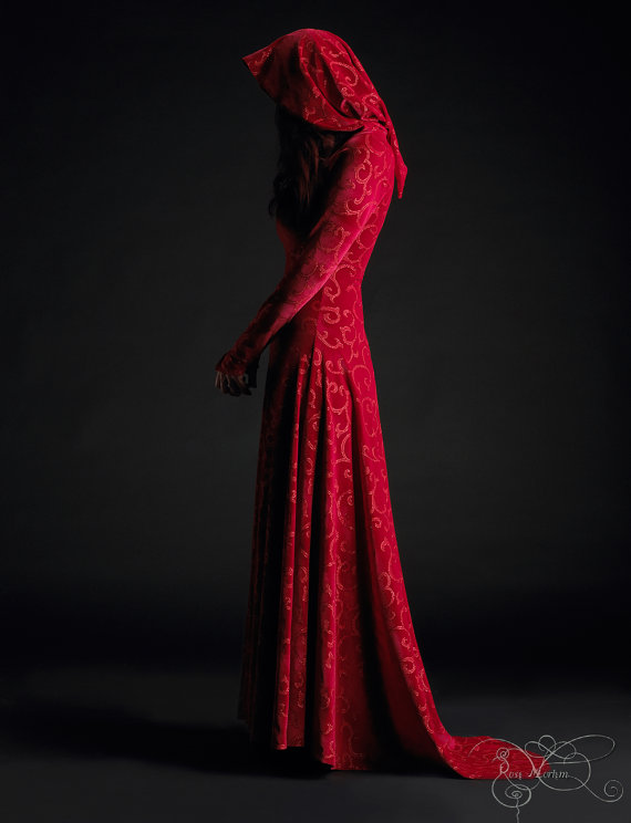 Calista Hooded Dress - Red Riding Hood Fairy Tale Wedding Dress ...