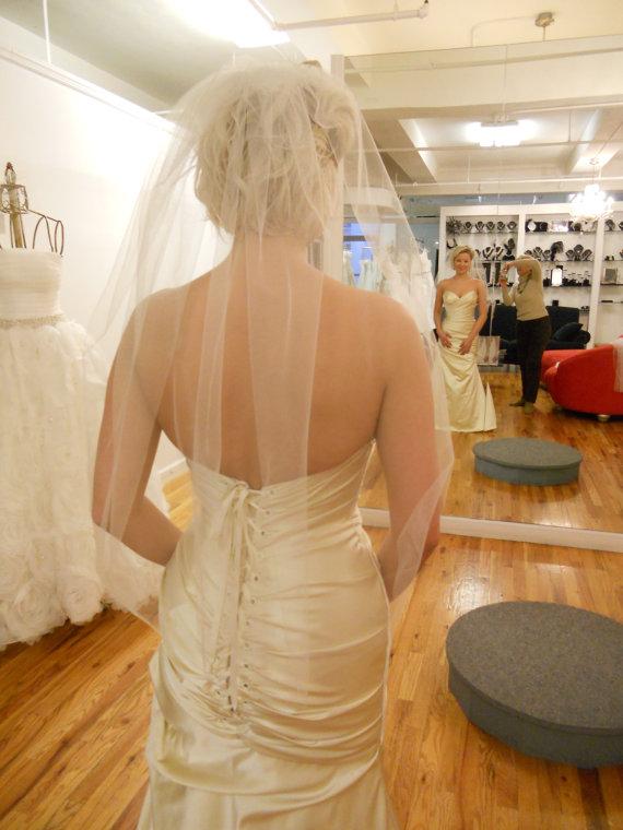 Свадьба - Plain wrist length veil