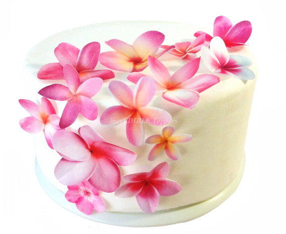 Edible Cake Decoration Flowers : Wedding Cake Topper - Edible Flower Decorations - Cupcake ...