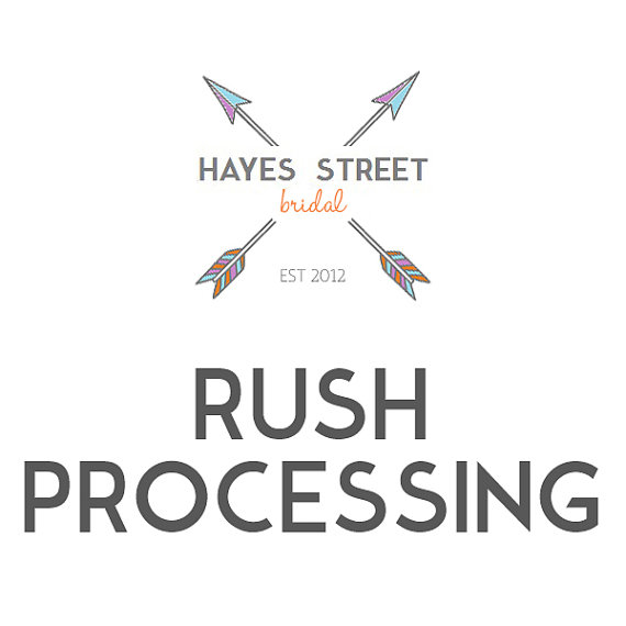 Hochzeit - Upgrade to Rush Processing - 1 Business Day